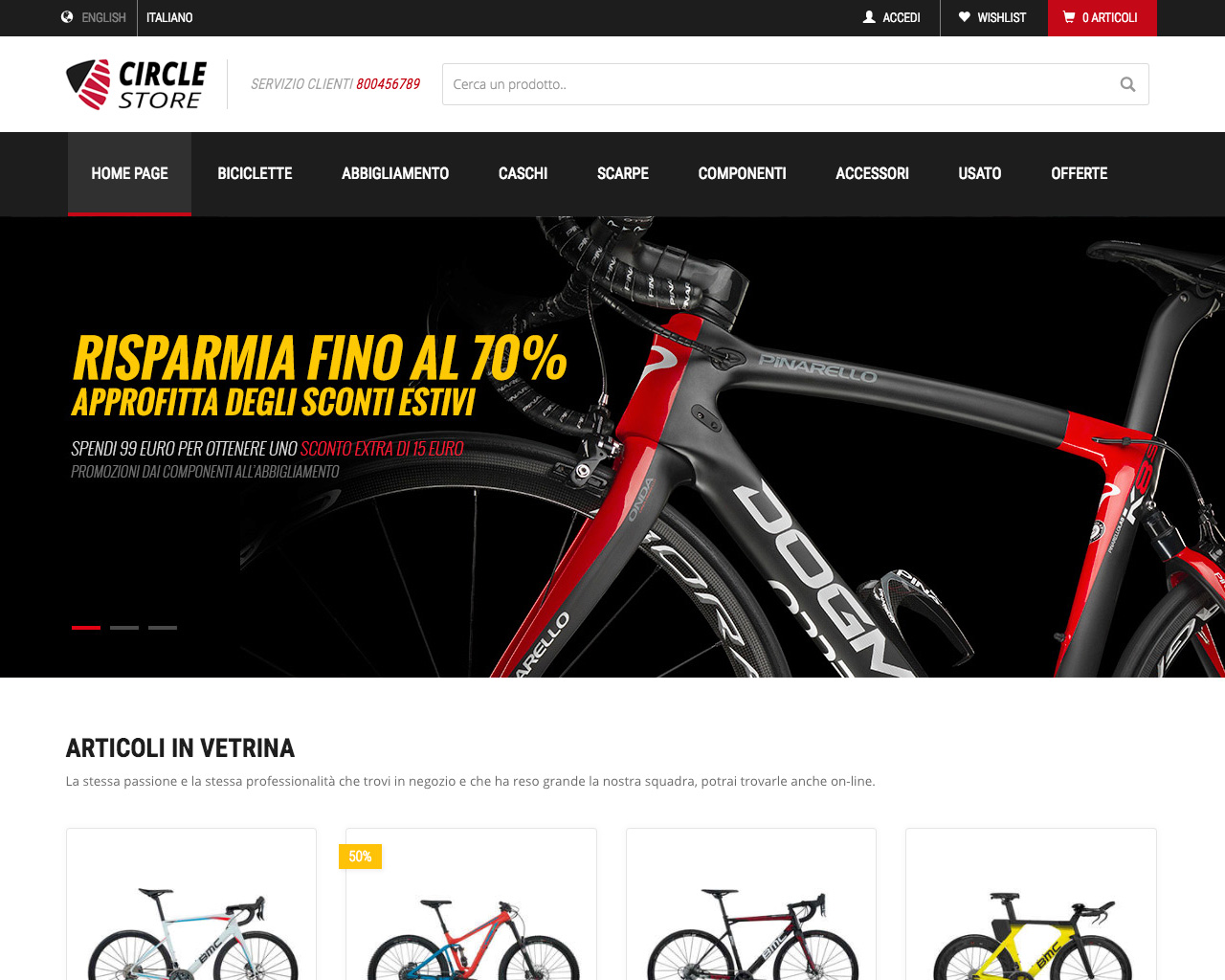 One Store - Home Page su PC