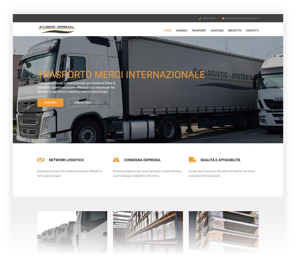 BC Logistic screenshot sito web