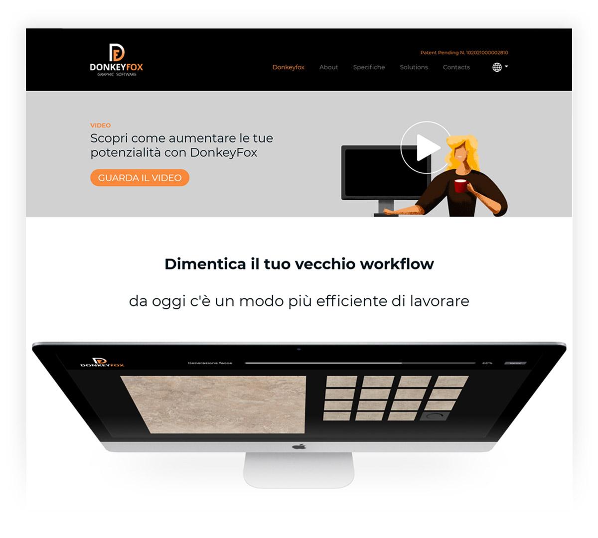 Screenshot sito web Donkey Fox